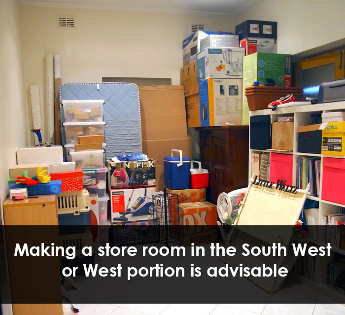 vastu store room placement