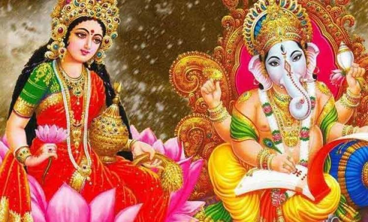 Goddess Lakshmi Lord Ganesha