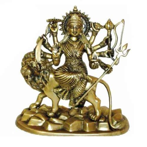 Durga Statue In Brass
