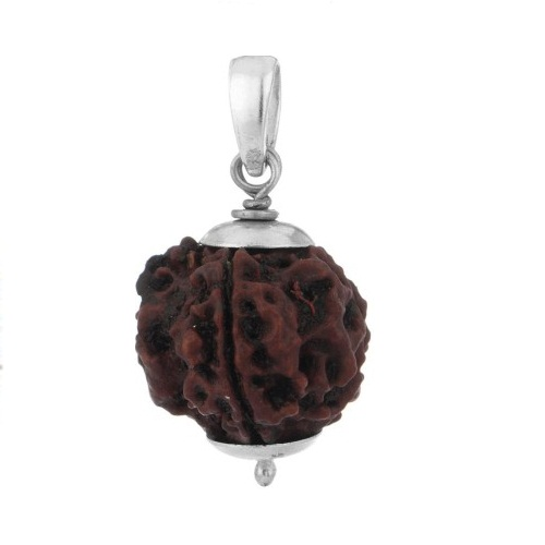 Certified 4 Face Rudraksha with Silver Cap