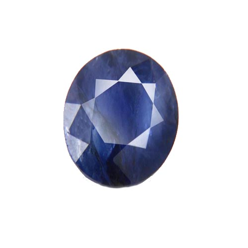 3.5 Ct Faceted Round Blue Sapphire