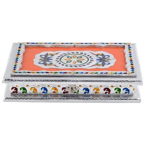 Silver Meena Dry Fruit Box