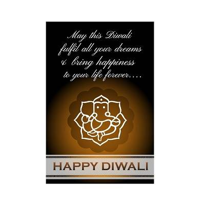 Beautifull Black And Brown Ganesh Diwali Poster
