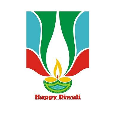 Beautifull Multicolour Flaring Flame Diwali Poster