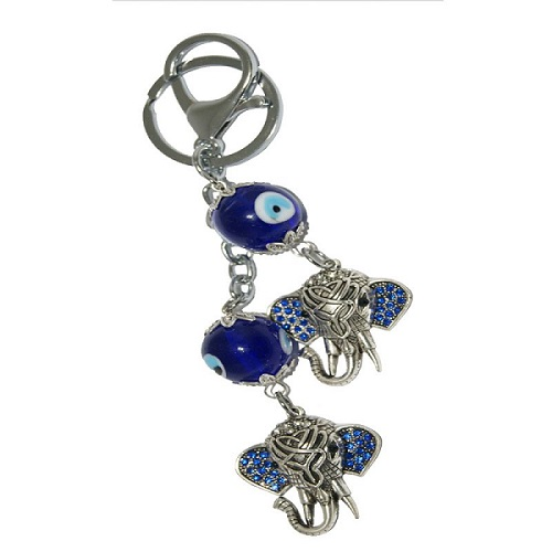Evil Eye with Ganesha Head Key Chain
