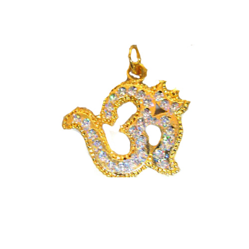 Gold Plated Om Pendent