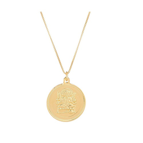 Voylla Gold Toned Religious Pendant With Chain