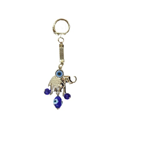 Feng Shui Elephant Evil Eye Key Chain