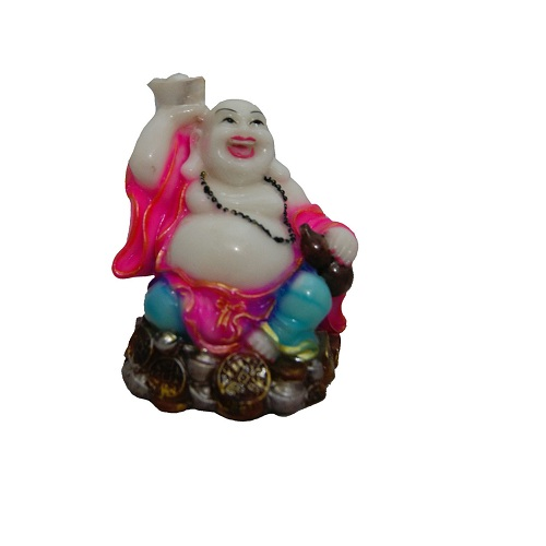 Feng Shui Laughing Buddha In Marble Finish 3