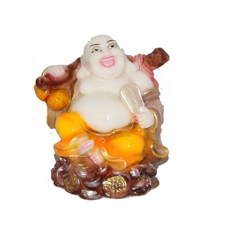 Feng Shui Laughing Buddha In Marble Finish