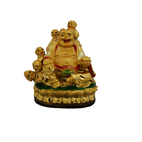 Feng Shui Laughing Buddha With Ingot For Goodluck & Wealth