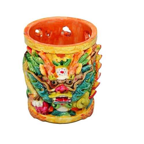 Feng Shui Pencil Dragon Cup For Office