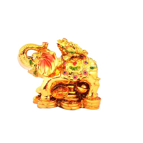 Feng Shui Wealth Frog on Elephant