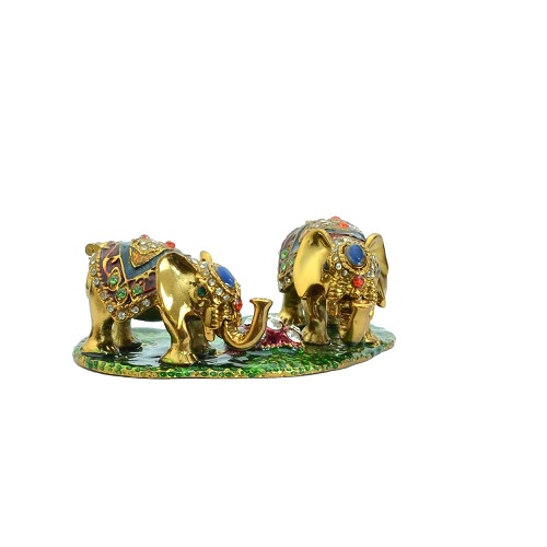 Fengshui Pair of Bejeweled elephant