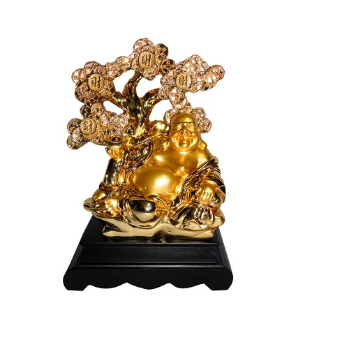Golden Happy Man Showpiece
