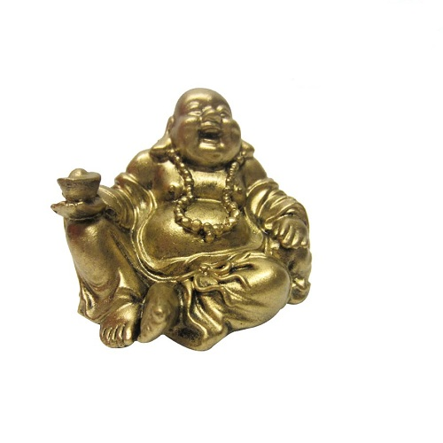 Golden Laughing Buddha Idol