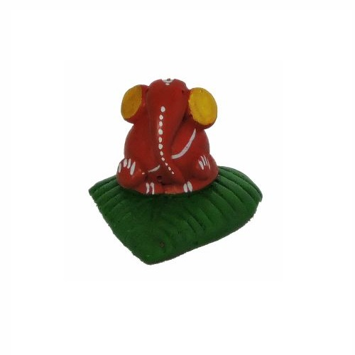 Terracotta Leaf Ganesh Idol  Idol for Ganesh Chaturthi
