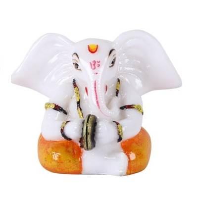 White Ganesha Idol