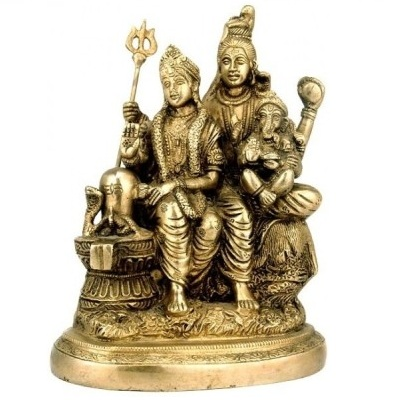 Lord Shiv with Parvati & Ganesh Brass idol Statue?