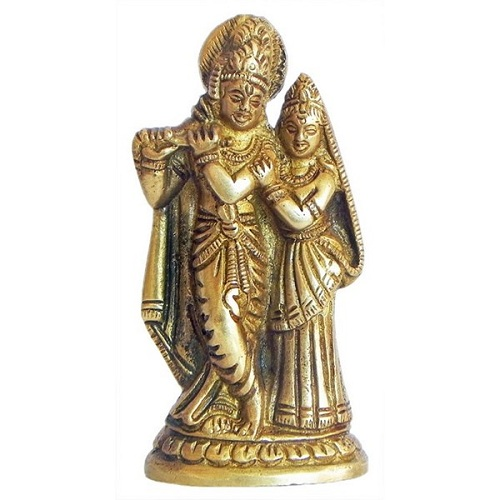 Brass Radha-Krishna Idol