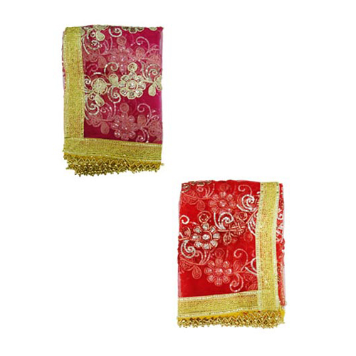 Mata Ki Chunri Red and Pink Set of 2 For Navratri