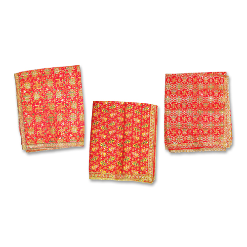 Religious Symbol Print Mata ki Chunri Set of 3 For Navratri