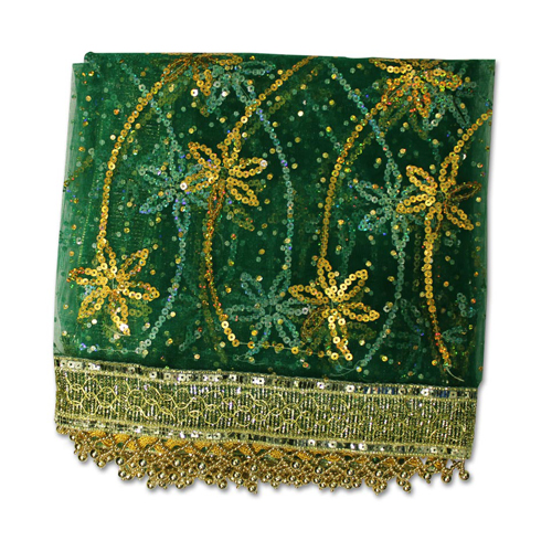 Green with Star Designing Mata Ki Chunri For Navratri