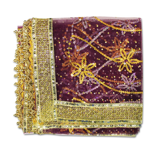 Mata Ki Chunri With Star Design For Navratri