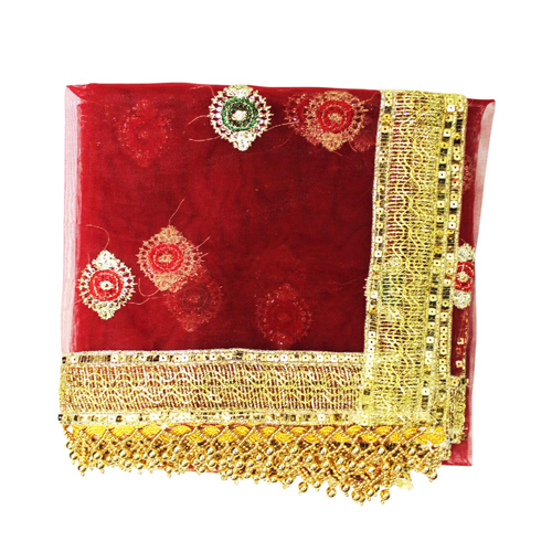 Mata ki Chunri with Heavy Border Red Color  For Navratri