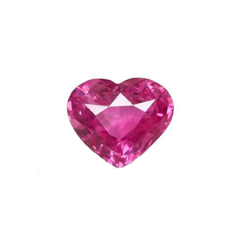 1.15 Ct. Heart Pink Sapphire