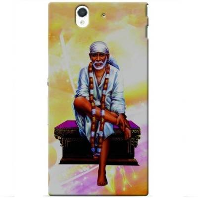 Designer Colourfull sai Baba printed Back Cover for Sony Xperia Z