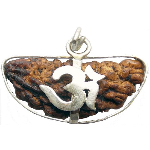 One Face Rudraksha with Silver Cap