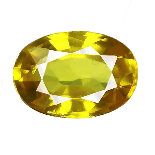 Yellow Faceted 0.60 Carat Sapphire Gemstone