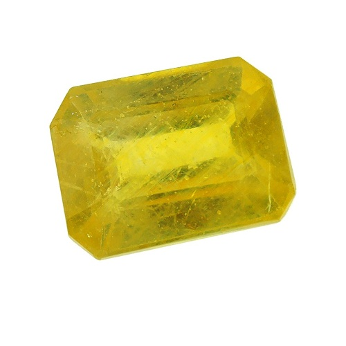 Yellow Faceted Sapphire