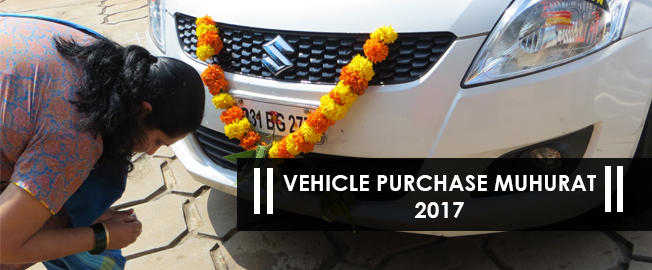 Vehicle Purchase Muhurat in 2017